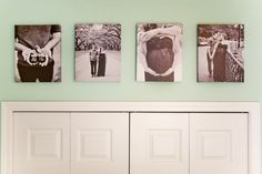 I would love to do this! canvas maternity pics in the nursery