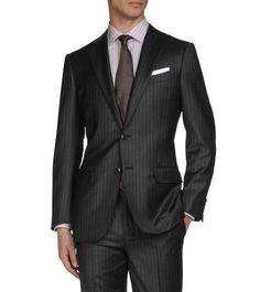 CostumeSerge de laine 2 boutons Double fente pNoir100% laine(49118159AB)|Ermenegildo Zegna 1950