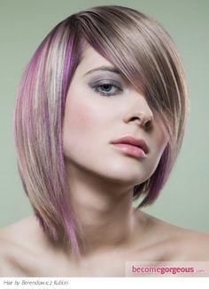 Pictures : Hair Highlights Ideas - Purple Hair Highlights