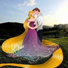 Rapunzel and Flynn Rider Rapunzel Flynn, Rapunzel And Eugene, Disney Rapunzel, Princesa Disney, Arte Disney, Disney Princess Drawings, Disney Princess Art, Princess Rapunzel, Disney Fan Art