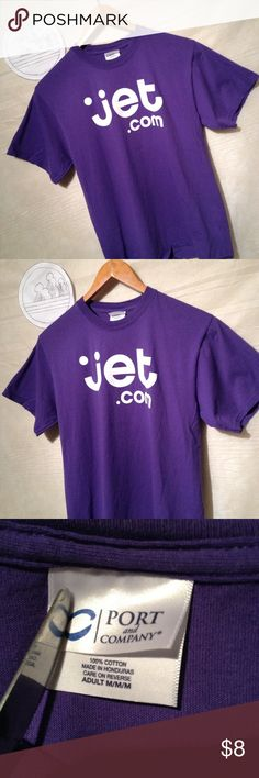 Jet.com purple t-shirt size M technology Used shirt with no holes, rips or tears shipping from smoke free environment, thank you.  SKU 120616.001.00Y port and company Shirts Tees - Short Sleeve