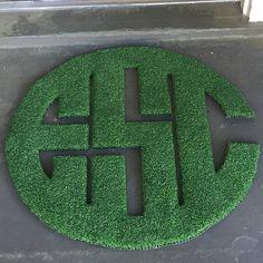 Indoor & Outdoor Monogram Doormat