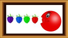 Learn Colours with pacman eating grapes.Colors learning Videos for Kids....