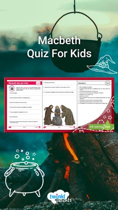 Need help with homework topics? Your children can scan the QR code to find out all about Macbeth and then test their learning with this quiz. Follow the link to try this engaging quiz today! Who knew that learning could be so fun?