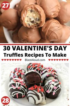 These Valentine's day truffles make for the perfect bite-sized desserts to share with your loved ones on Valentines day! These truffle recipes are perfect for Valentines day as they're a quick and easy dessert to make, and not to mention very tasty! Valentine Desserts, Valentines Recipes, Valentine Cookies, Easter Recipes, Easy To Make Desserts, Bite Size Desserts, Cake Mix Recipes, Dessert Recipes, Brownie Recipes