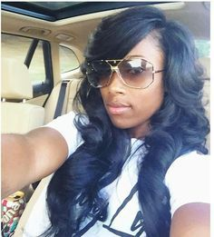 Side part with bang sew in