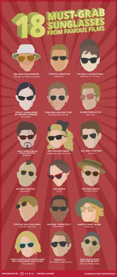 Have you tried wearing these 18 Must-grab Sunglasses from Famous Films?   Facebook.com/TagaiOfficial
