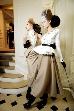 Christian Dior spring 2010 couture backstage