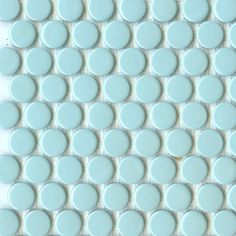 pretty turquoise penny tiles...just like little fishie scales!