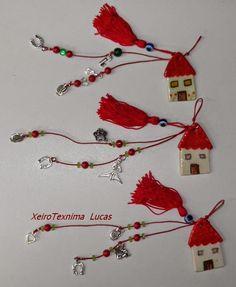 Χειροτεχνημα - Handmade: Γούρια - Good luck charms Christmas Tree Decorations, Christmas Crafts, Christmas Ornaments, Holiday Decor, Mother's Day Diy, Diy Clay, Pebble Art, Ceramic Art, Diy And Crafts