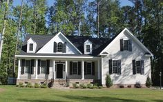 Home Plan HOMEPW11425 - 2398 Square Foot, 4 Bedroom 3 Bathroom + Greek Revival Home with 2 Garage Bays | Homeplans.com
