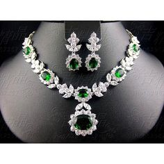 Luxury handmade necklace ,earring wedding jewelry set ,perfect for... ❤ liked on Polyvore