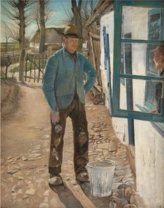 L.A. Ring (1854-1933), Whitewashing the Old House, 1908.