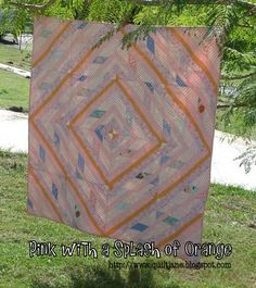 Pink with a Splash of Orange Quilt « Moda Bake Shop Oda May wants to make this one