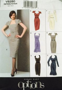 Vogue V8280 Size 4-6-8 Misses' Dress Pattern UNCUT by tealducktoo