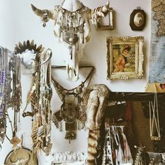 The Home of... Leah Hoffman. Jewelry and skull, details