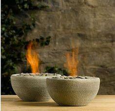 Great DIY Fire Bowl idea By Bernadette Merikle..& lots more gret finds on her Pinterest page!