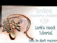 Macrame lesson1. How to make Lark's Head knot tutorial. - YouTube