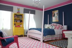 amazing pink and blue girls bedroom
