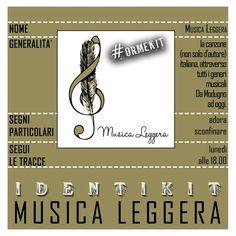 MUSICA LEGGERA - un'ora intensa di gratificazioni musicali italiane da Modugno ai giorni nostri