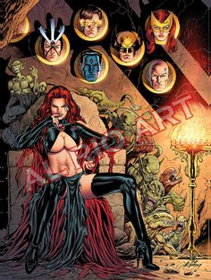 "Goblin Queen Trophy Wall - Large Poster by Al Rio - X-Men related 18""x24"""