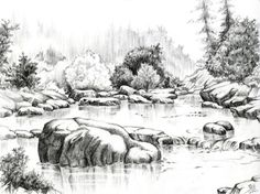 Landscape Drawings In Pencil | Home Comics Illustrations Studio About Links
