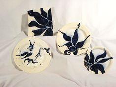 """Cobalt Asian"" artist: Dayna Lyn majolica on ceramic Ceramic Painting, Cobalt, Original Art, Asian, Ceramics, Pure Products, Creative, Garden, Artist"