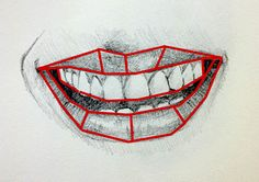 How to draw mouth with planes