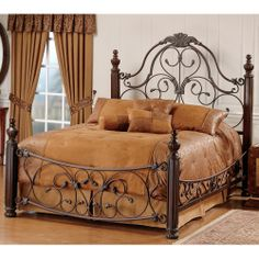 Bonaire Iron & Wood Bed by Hillsdale Furniture. I love the bed and frame, I would want another color for the room, not brown!