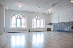 Misfit Studio is what happens when you take out the incense and put the rock'n roll into yoga, adding lots of Pilates, Ashtanga, anatomy and dance expert. Misfits, Stained Glass Windows, Your Space, Valance Curtains, Toronto, How To Memorize Things, Yoga, Dance Class