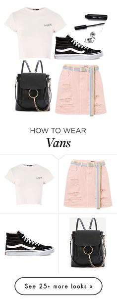 """Untitled #276"" by georgialanexo on Polyvore featuring Topshop, Vans, Bobbi Brown Cosmetics and WithChic"