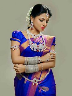 Beauty Pictures: south indian bride in saree Kerala Bride, South Indian Bride, Indian Bridal, Indian Wife, Indian Photoshoot, Bridal Photoshoot, Tamil Brides, Bridal Makeup Looks, Saree Wedding