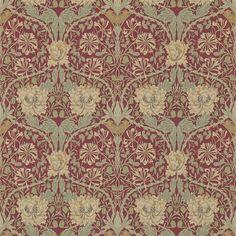 Honeysuckle & Tulip Red/Gold 214700 - Seinäruusu - Verkkokauppa
