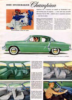 1955 Studebaker Champion Deluxe Two Door Sedan