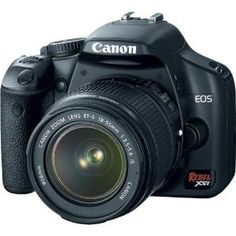Canon Digital Rebel XSi 12.2 MP Digital SLR Camera with EF-S 18-55mm f/3.5-5.6 IS Lens - Black (Camera)