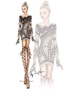 s u m m e r d a y s yun am 172 dougieillustrations be inspirational mz manerz being 6577367205517715 Dress Design Sketches, Fashion Design Sketchbook, Fashion Design Drawings, Fashion Sketches, Moda Fashion, Fashion Art, Fashion Models, Fashion Outfits, Fashion Drawing Dresses