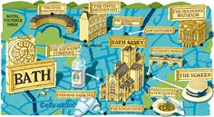 Elly Walton - map of Bath