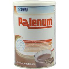PALENUM Schoko Pulver:   Packungsinhalt: 450 g Pulver PZN: 03926643 Hersteller: GHD Direkt II GmbH Vertriebslinie Nestle Preis: 12,57 EUR…