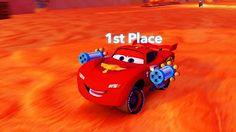 Машинки Тачки Молния Маквин на гонке Мультик Игра Disney Cars Lightning McQueen…
