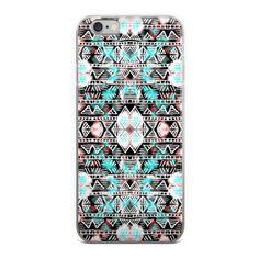 Boho Tribal Pattern Turquoise iPhone Case