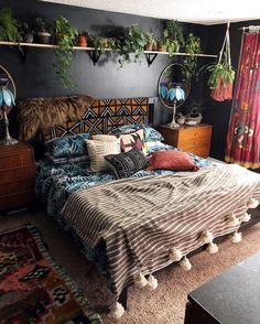 44 Beautiful African Bedroom Decor Ideas - All About Decoration Dream Bedroom, Home Bedroom, Master Bedroom, Modern Bedroom, Girls Bedroom, Bedroom Rustic, Bedroom Simple, Contemporary Bedroom, Warm Bedroom