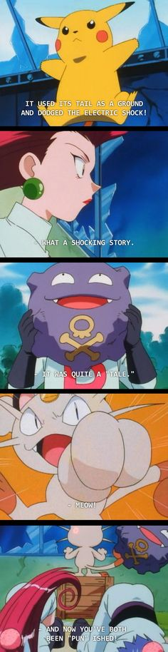 Team rocket has the cheesyest puns! LIKE AND FOLLOW ME IF YOU THINK THIS IS FUNNY