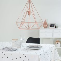 Lámpara de techo de metal D. 45cm DIAMOND COPPER | Maisons du Monde