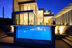 Exterior Outstanding Ideas House Designs With Pools Inground Pool Astonishing Apartments Luxury Design Architecture. pool and patio designs. above ground swimming pool deck designs. in ground pool designs. Dream House Interior, Dream Home Design, My Dream Home, House Design, Dream Homes, Life Design, Creative Architecture, Architecture Design, Beautiful Architecture