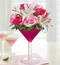 Think P!nk Floral arrangement !