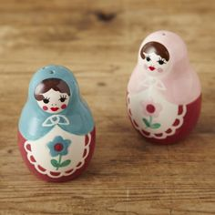 Russian Doll Salt and Pepper Shakers