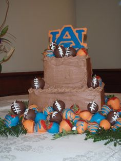 Auburn Grooms Cake! cute birthday cake for my sweetie.
