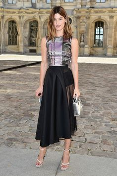Hanneli Mustaparta at #Dior #PFW #LuceaRow