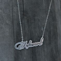 Awkward Necklace, $24, now featured on Fab.