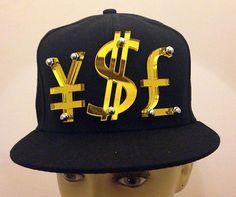 fb0d6dd09d9 Yen Dollar Pound (YSL) Sign Black Adjustable Hat Cap Snapback - USA Seller